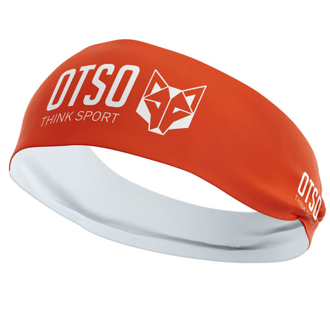 Headband Otso of 12 centimeters thick and orange. The product is unisex and one size fits all