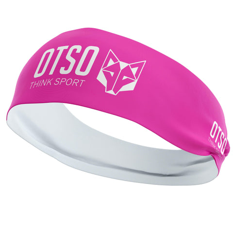 Headband Otso of 12 centimeters thick and pink. The product is unisex and one size fits all