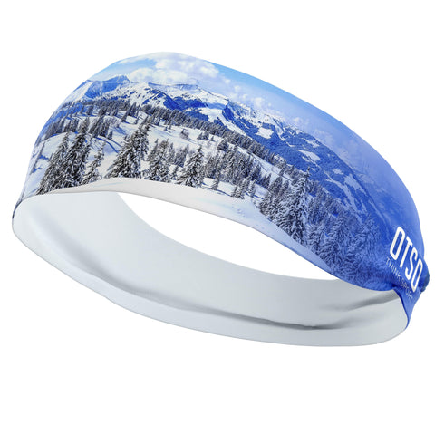 Headband Otso of 12 centimeters thick and stamped with snow trees. The product is unisex and one size fits all