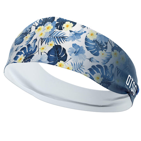 Headband Otso of 12 centimeters thick and floral print. The product is unisex and one size fits all