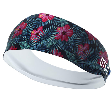 Headband Otso of 12 centimeters thick and tropical print. The product is unisex and one size fits all