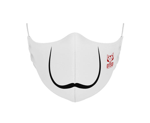 Mascarilla Moustache White