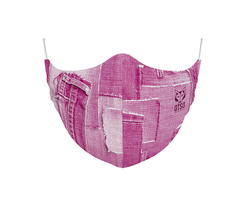 Face Mask Jeans Pink