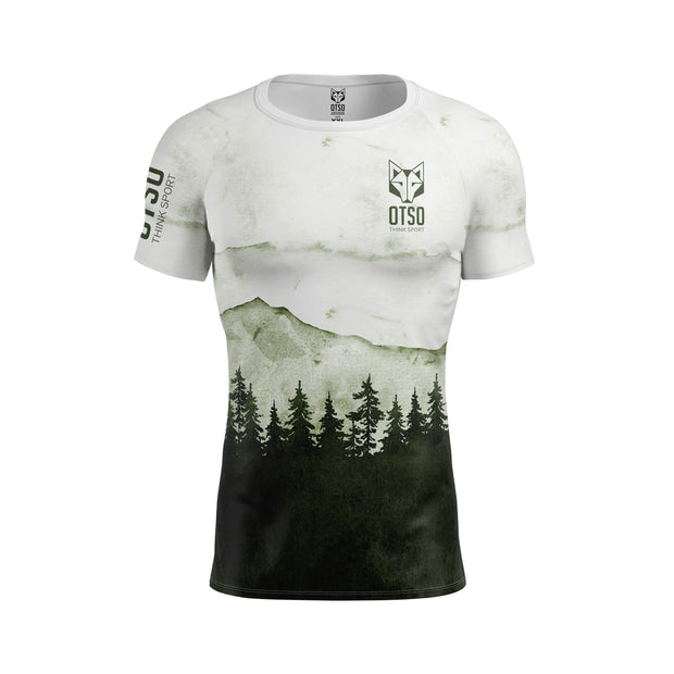 Short sleeve t-shirt for men from the Otso brand with Green Forest print. Front photo
