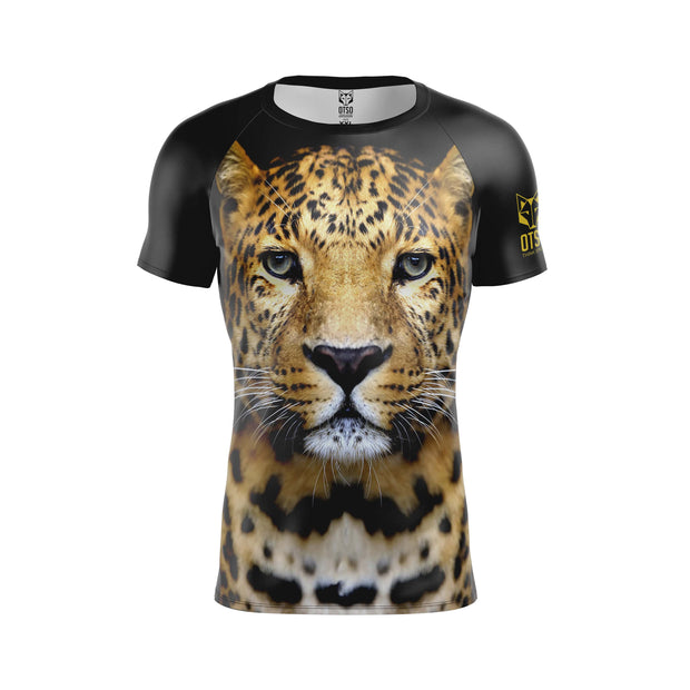 Men's Short Sleeve Shirt Leopard