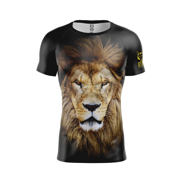 Men's Short Sleeve Shirt Lion
