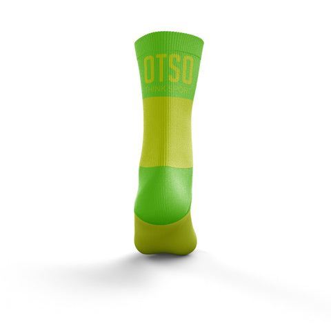 Multi-Sport Socks Medium Cut Fluo Yellow / Fluo Green
