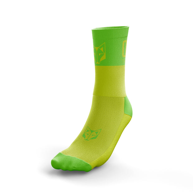 Calcetines Multideporte Medium Cut Fluo Yellow / Fluo Green