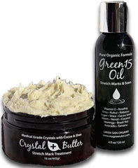 COMPLETE KIT Stretch Marks Crystal Butter & Green15 Oil