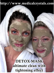 Detox Face Mask with Seaweed Powder & Active Charcoal Clay Mix