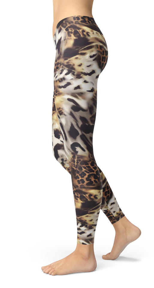 Animal Mix Print Leggings - US FITGIRLS