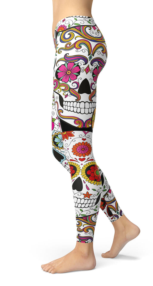 Colorful Skull Leggings - US FITGIRLS