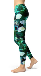 skulls and seashells Leggings - US FITGIRLS