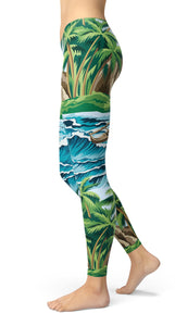 Summer Waves Leggings - US FITGIRLS