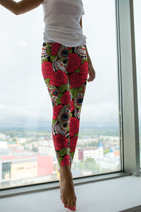 Skulls and Roses Leggings - US FITGIRLS