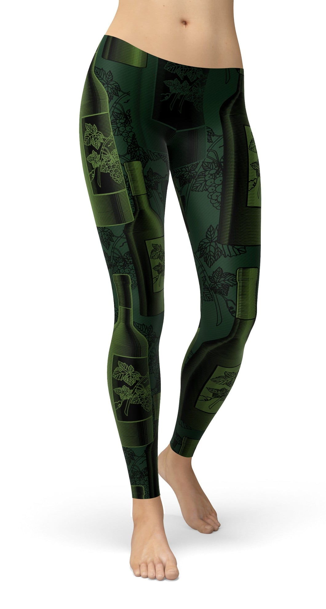 Wine Bottles Leggings - US FITGIRLS