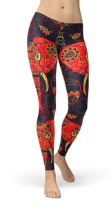 Floral Elephant Leggings - US FITGIRLS