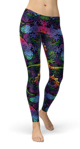 gecko and boho suns Leggings