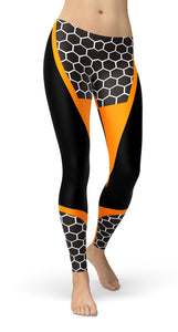 HONEYCOMB CARBON LEGGINGS - US FITGIRLS