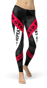 Eat Sleep Gym Repeat Leggings - US FITGIRLS