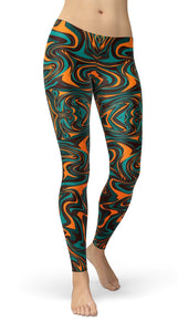 PSYCHEDELIC NEON PAINT Leggings - US FITGIRLS