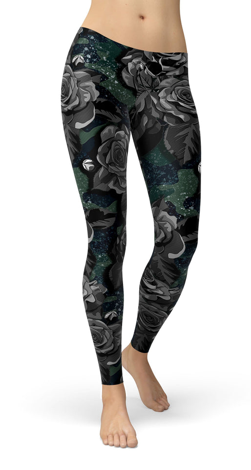 camouflage with flower  Leggings - US FITGIRLS