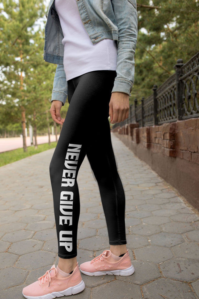 Never Give Up Leggings - US FITGIRLS
