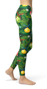 christmas tree Leggings - US FITGIRLS