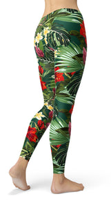 Tropical floral Leggings - US FITGIRLS