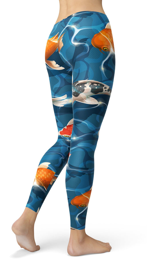 WATER KOI FISH Leggings - US FITGIRLS