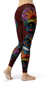 Colorfull Sugar Skulls Leggings - US FITGIRLS