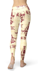 Vintage Wine Leggings - US FITGIRLS