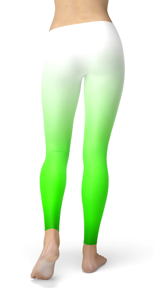 Ombre White Combination Leggings - US FITGIRLS