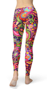 Colorful PEACE Leggings - US FITGIRLS