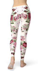 Rose bouquet Leggings - US FITGIRLS