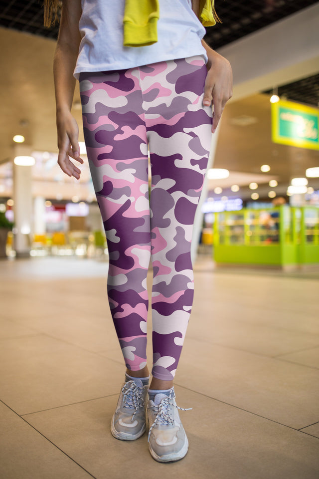 Pink Camouflage Leggings - US FITGIRLS