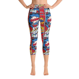 BOOM BANG CARTOON Yoga Capri Leggings