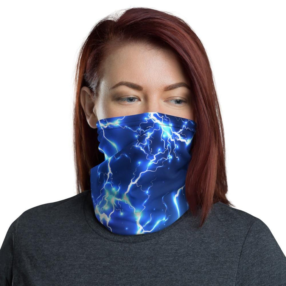 blue electric lightning Neck Gaiter - US FITGIRLS