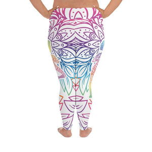 RELAX AND STAY CALM Plus Size Leggings - US FITGIRLS