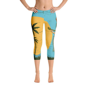 hawaii Capri Leggings - US FITGIRLS