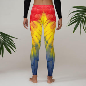 Parrot Feathers Leggings - US FITGIRLS