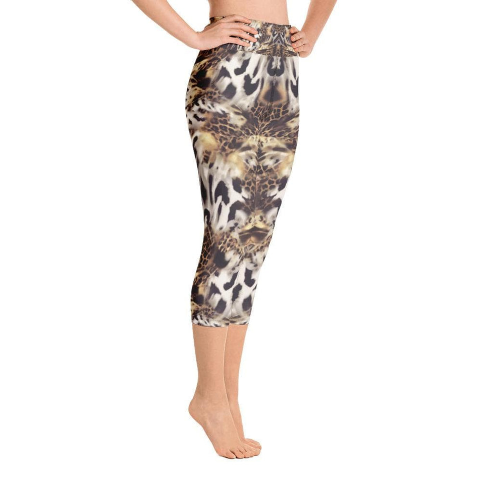 Animal Mix Print Yoga Capri Leggings - US FITGIRLS