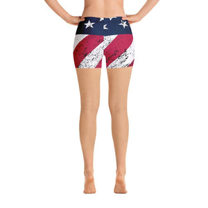 American Flag Shorts - US FITGIRLS