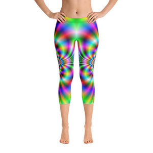 Psychedelic  Capri Leggings - US FITGIRLS