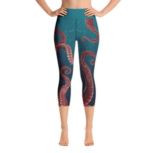 OCTOPUS TENTACLES Yoga Capri Leggings - US FITGIRLS