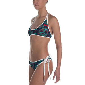 Ornamental Sugar Skull Bikini - US FITGIRLS
