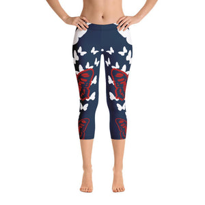 Butterfly Capri Leggings - US FITGIRLS