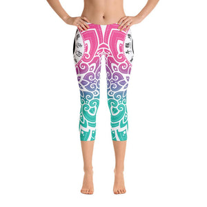 Yin Yang Capri Leggings - US FITGIRLS