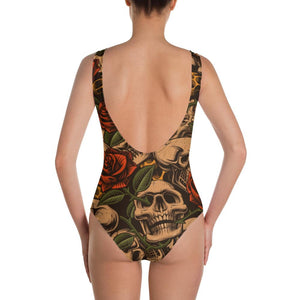 Skulls and Roses Swimsuit - US FITGIRLS