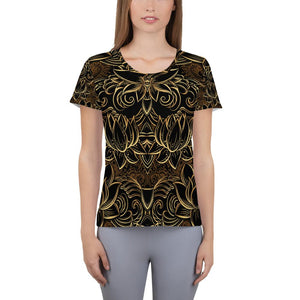 GOLDEN LOTUS Athletic T-shirt - US FITGIRLS